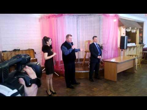 Денис Иудин и Николай Коршунов на церемонии вручения ключей