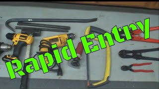 (63) Rapid Entry Planning (Against Locking Devices)