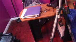 mainstays l shaped desk with hutch putting together vlog 70