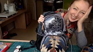 Лоскутный эфир 141. Как собрать рюкзак с лоскутным рисунком?