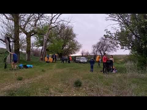 Лагерь в заповеднике на озере Баскунчак