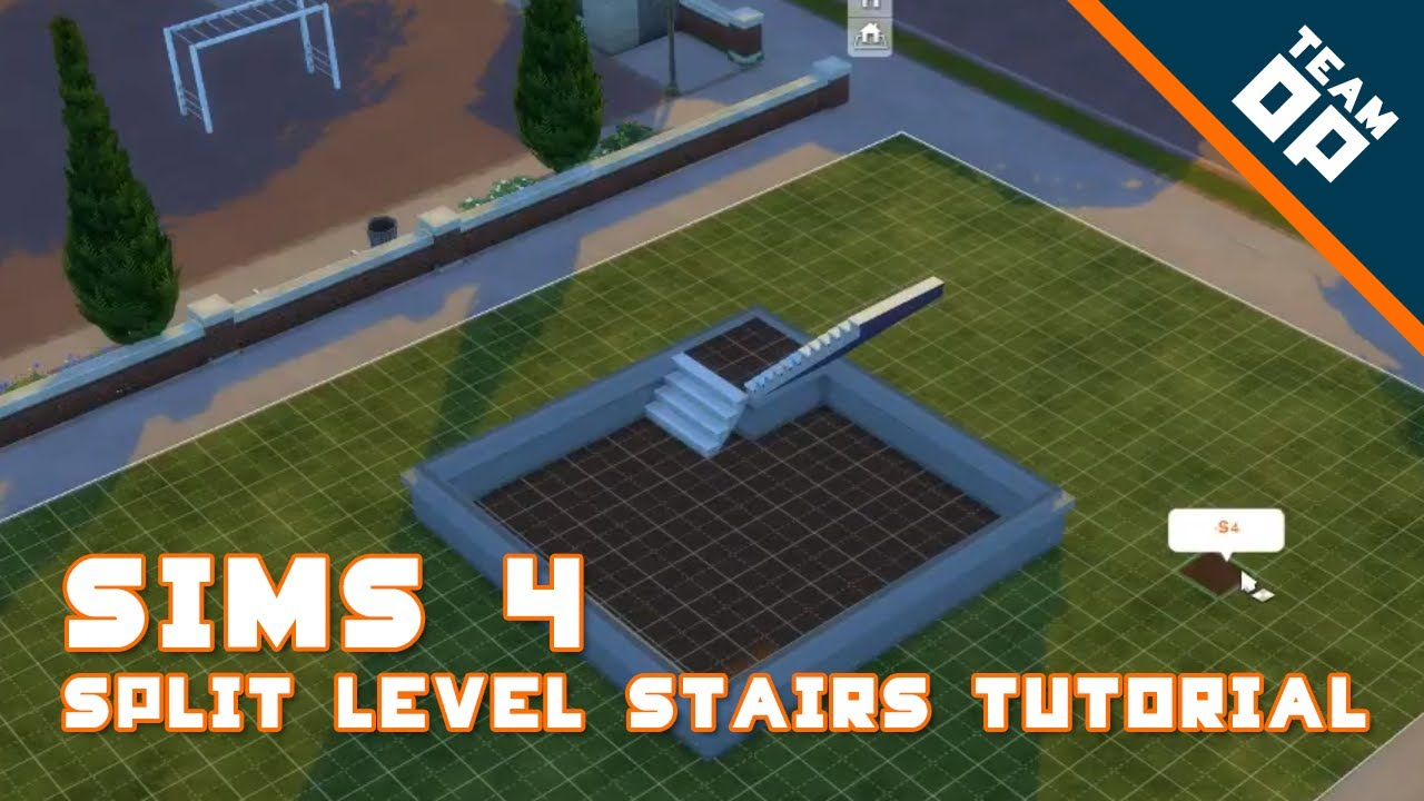 Sims 4: Quick & Easy Split Level Stairs Tutorial | Team