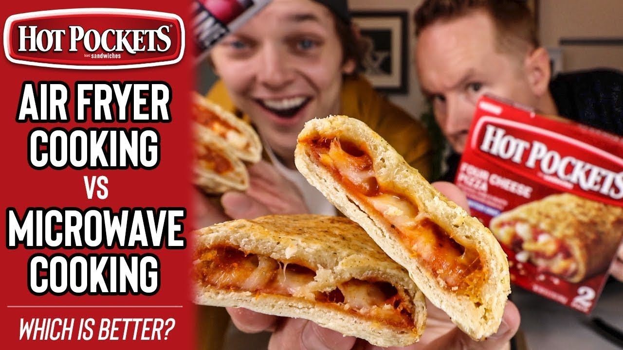 hot pockets cooking in air fryer or microwave