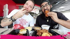 KFC VS Popeyes FRIED CHICKEN - American Fast Food Review | North Miami Beach, Florida