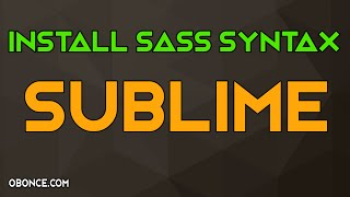 Install Sass Syntax In Sublime Text Editor 2,3