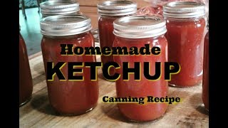 Homemade Ketchup Recipe for Canning