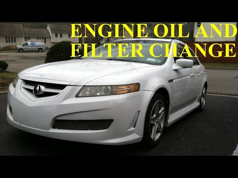 Acura TL How To Change Engine Oil And Filter