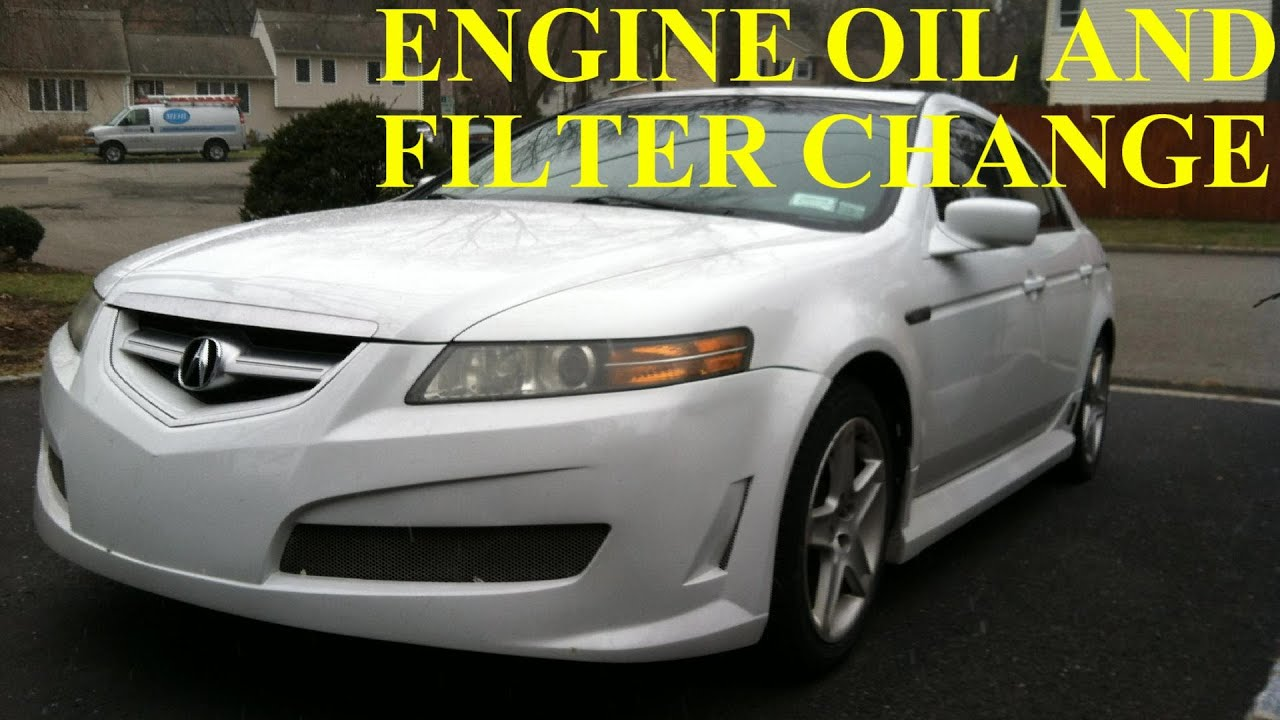 acura tl how to change engine oil and filter youtube