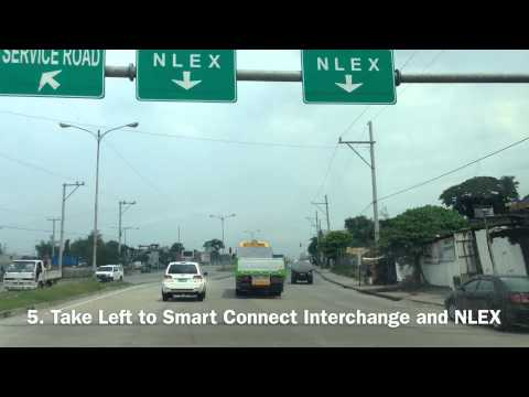 Manila to NLEX Driving Directions via Smart Connect Interchange by HourPhilippines.com