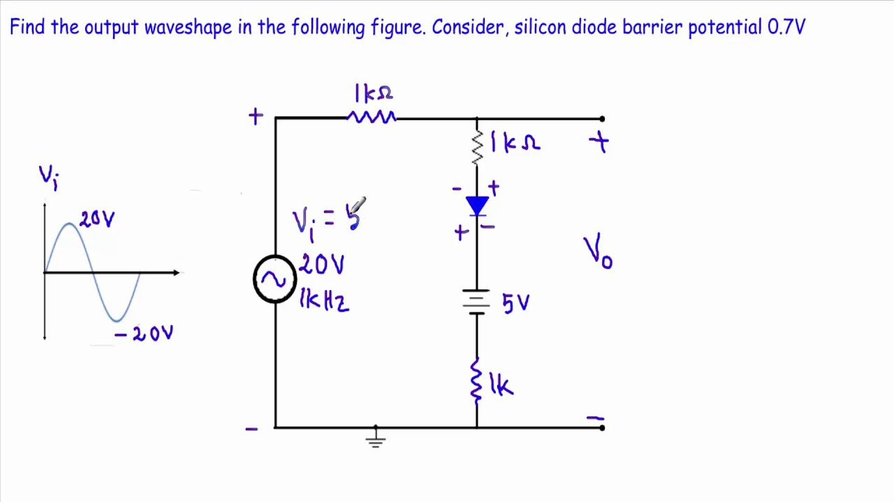 diode clipper circuit analysis example 5 6 very hard youtube rh youtube com How Does a Resistor Work How Stuff Works Diodes