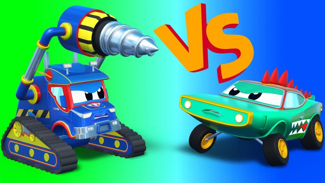 الشاحنة الخارقة !شاحنة الحفار الخارق ضد التمساح الشاحنة الخارقة - تطبيق عالم مدينة السيارات