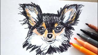 Chihuahua zeichnen lernen - Hund malen - how to draw chihuahua dog - Как Нарисовать чихуахуа