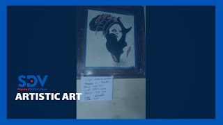 Pwani university student launches art gallery after improving craft through online classes.