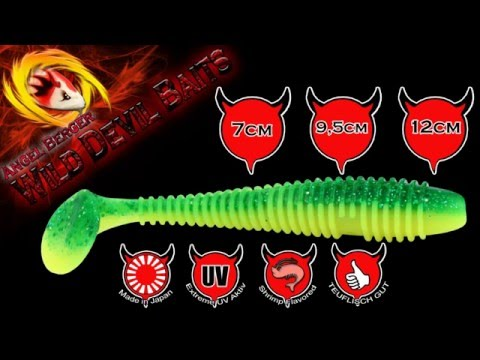 Wild Devil Baits Shockwave Shad loaded Gummifisch