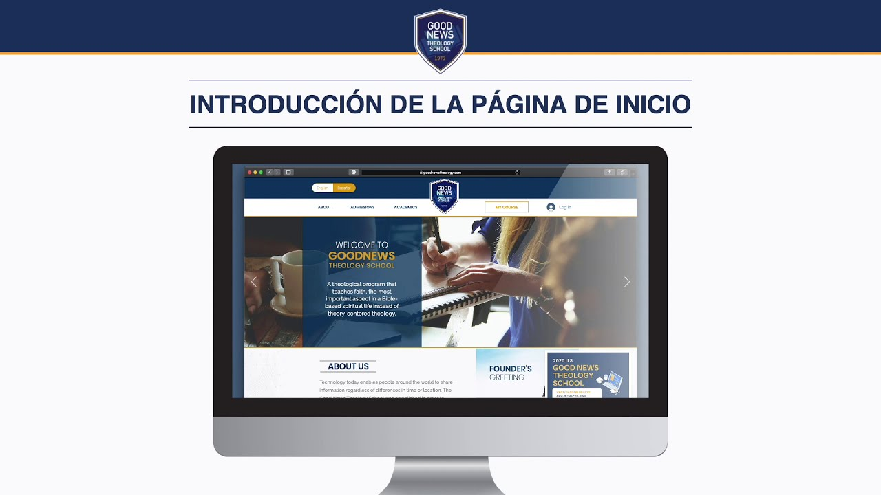[Español]Bienvenido a la Escuela de Teología Buenas Nuevas.