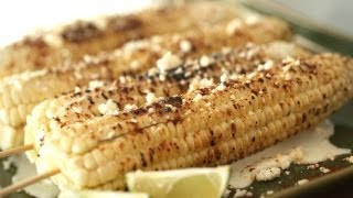Mexican Elote Grilled Corn On Cob Bbq Recipe || Kin Eats
