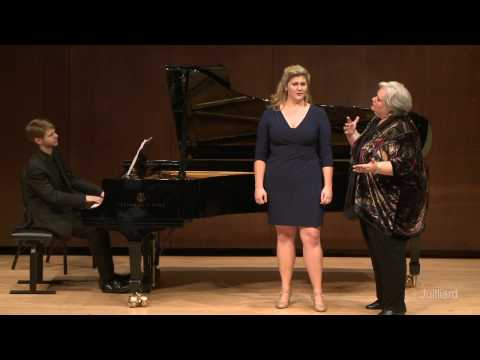 Julia Wolcott, soprano & Adam Rothenberg, piano  Juilliard Stephanie Blythe Master Class