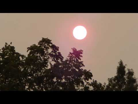 Crazy Red Sun and Moon 9-4 & 9-5-17