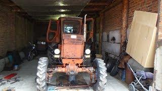 Ремонт трактора Т-40 АМ ч №7,сняли поддон двигателя .