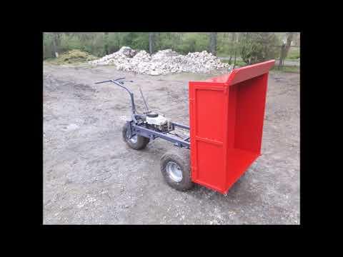 Taczka Z Silnikiem Budowa Taczki Z Silnikiem  Mini Dumper Made In Garage :)