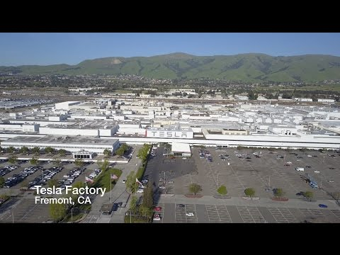 Tesla Factory Drone Fly Over, Don't Tell Elon!