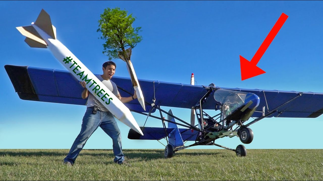 Can AIRPLANES plant ROCKET trees??? #TeamTrees