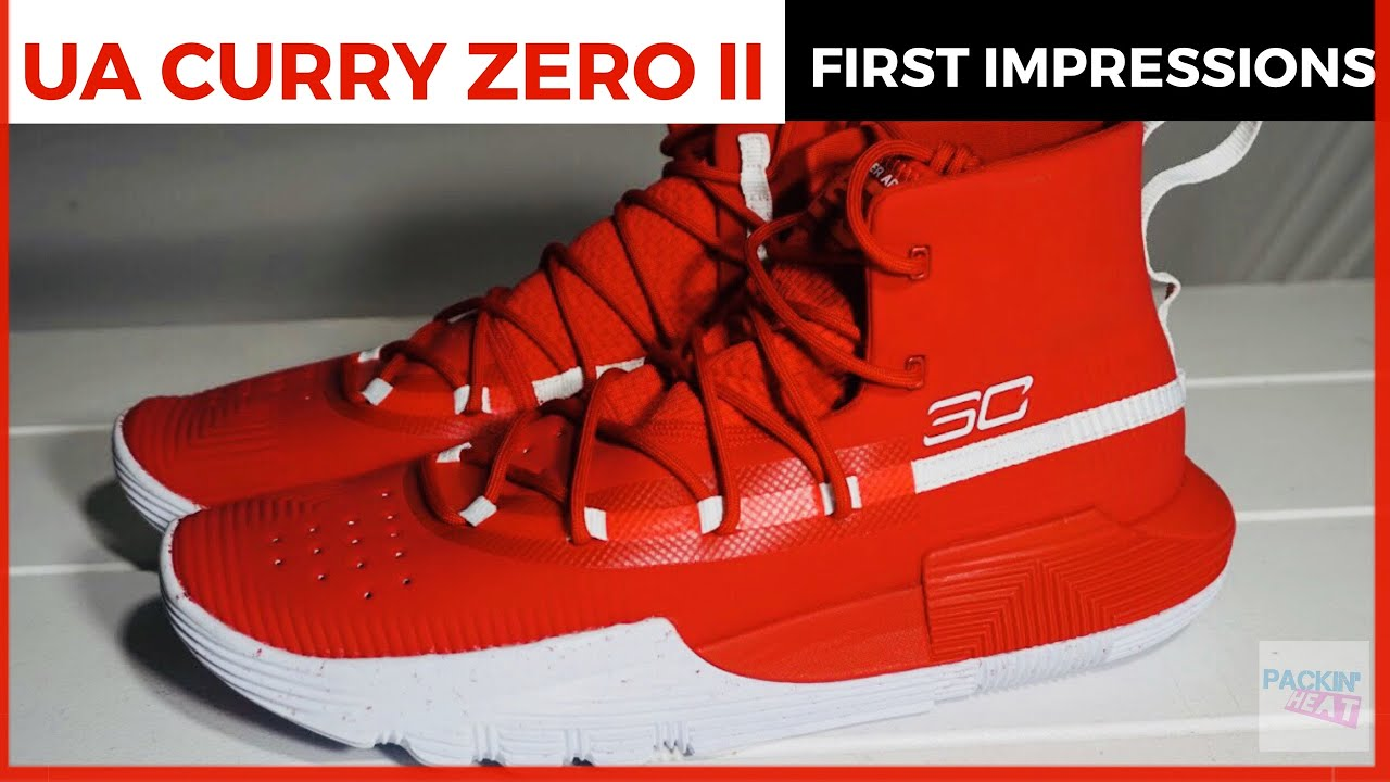 pretty nice 0ebb4 6e2c7 Under Armour Curry 3ZER0 II 2 Red White First Impressions and Detailed  Review