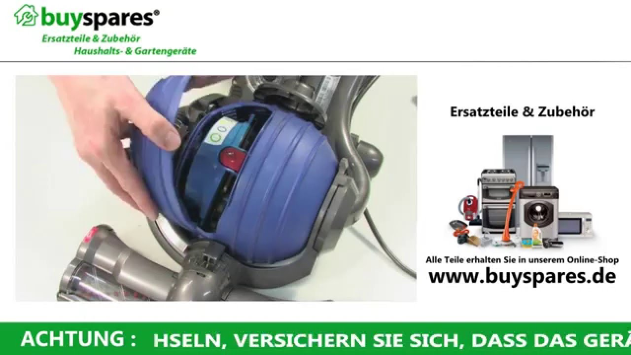 Anleitung Entfernen Reinigen Eines Dyson Dc24 Staubsaugerfilters
