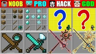 Minecraft NOOB vs PRO vs HACKER vs GOD SKILL SWORD WAND CRAFTING MUTANT MONSTER CHALLENGE Animation