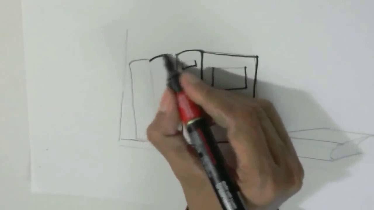 How To Draw Books On Shelf