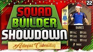 FIFA 18 SQUAD BUILDER SHOWDOWN!!! INFORM BAINES v AJ3!! Advent Calendar Day 22!! PRO v Youtuber!
