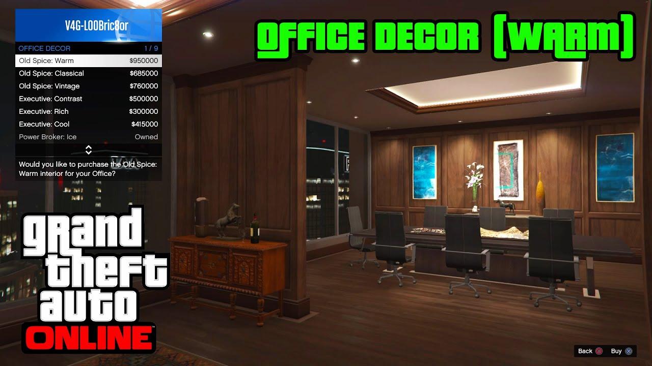 gta 5 online ps4 office decor warm youtube