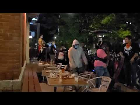 """ANTIFA/BLM """"peacefully protesting"""" restaurants in Rochester, NY"""