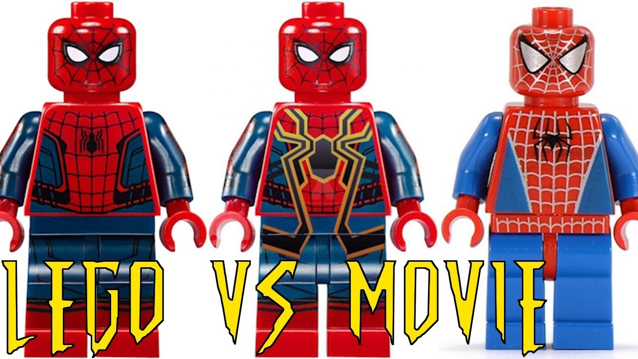 All Lego Spider Man Minifigures Movie 2002 2018 Lego Figs Vs