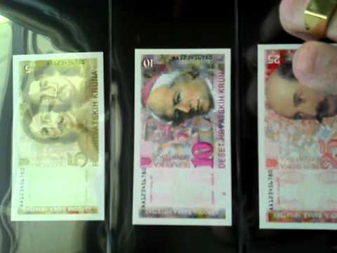 Croatian banknote collection