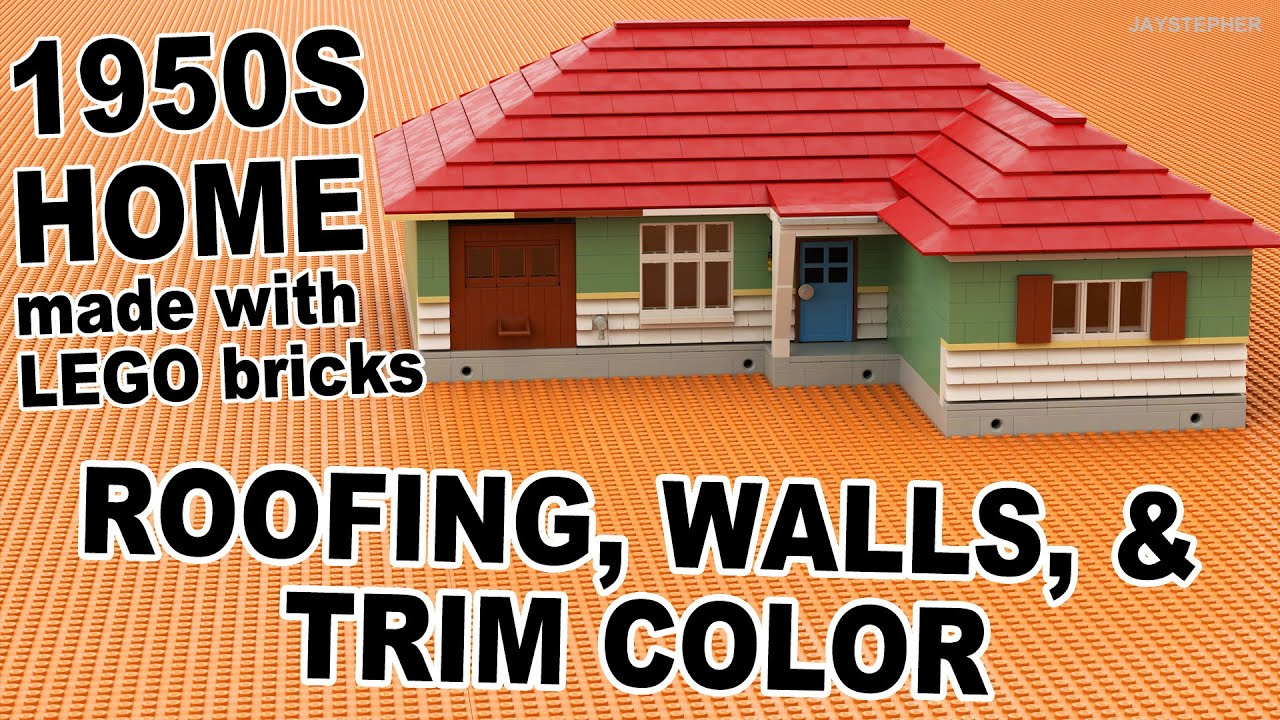 1950s Lego Home Roofing Walls Trim Color Youtube