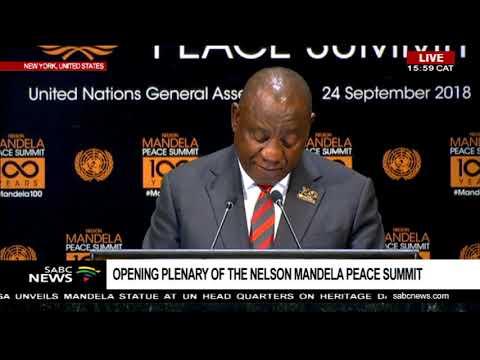 Pres Ramaphosa addresses Nelson Mandela Peace summit at UNGA