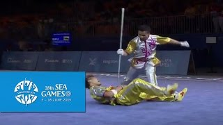 Wushu - Men's Duel Event - Weapon (Day 1) | 28th SEA Games Singapore 2015