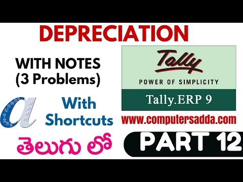 Tally Tutorials in Telugu- 12 (Depreciation)(www.computersadda)