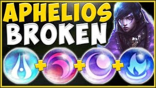 RIOT'S MOST ABSURD CHAMPION YET?? APHELIOS IS 100% ABSURD! APHELIOS SEASON 10! - League of Legends
