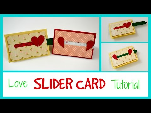 Love slider card - Valentine's Day sliding Card - DIY Paper Crafts for teenagers - Gift Ideas 2017
