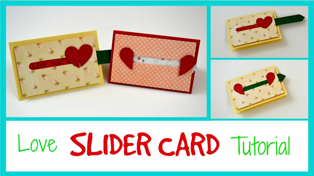 Love Slider Card Valentine S Day Sliding Card Diy Paper Crafts