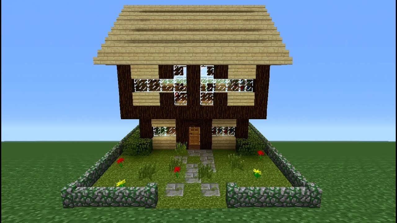 Minecraft Tutorial: How To Make A Wooden House - 1 (Test ...