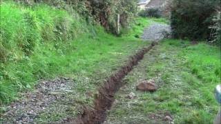 Land drain how to make a trench from natural resources!