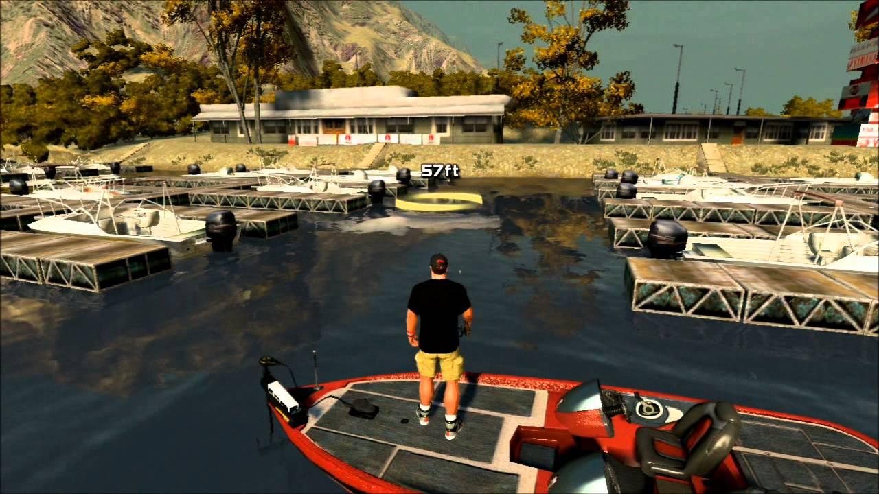Rapala pro bass fishing free fishing lake casitas 2 ps3 for Fish fishing games