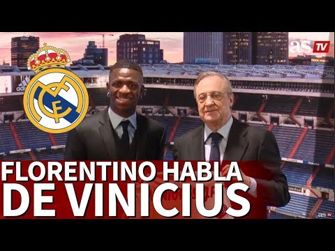 Florentino Pérez da la bienvenida a Vinicius Jr | Diario AS