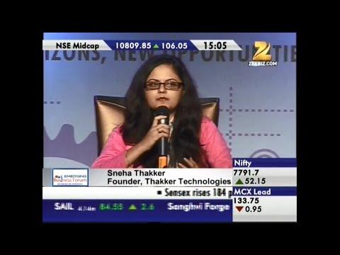 Sneha Thakker speaking @ Zee Business - IndiaMart Emerging Business Forum