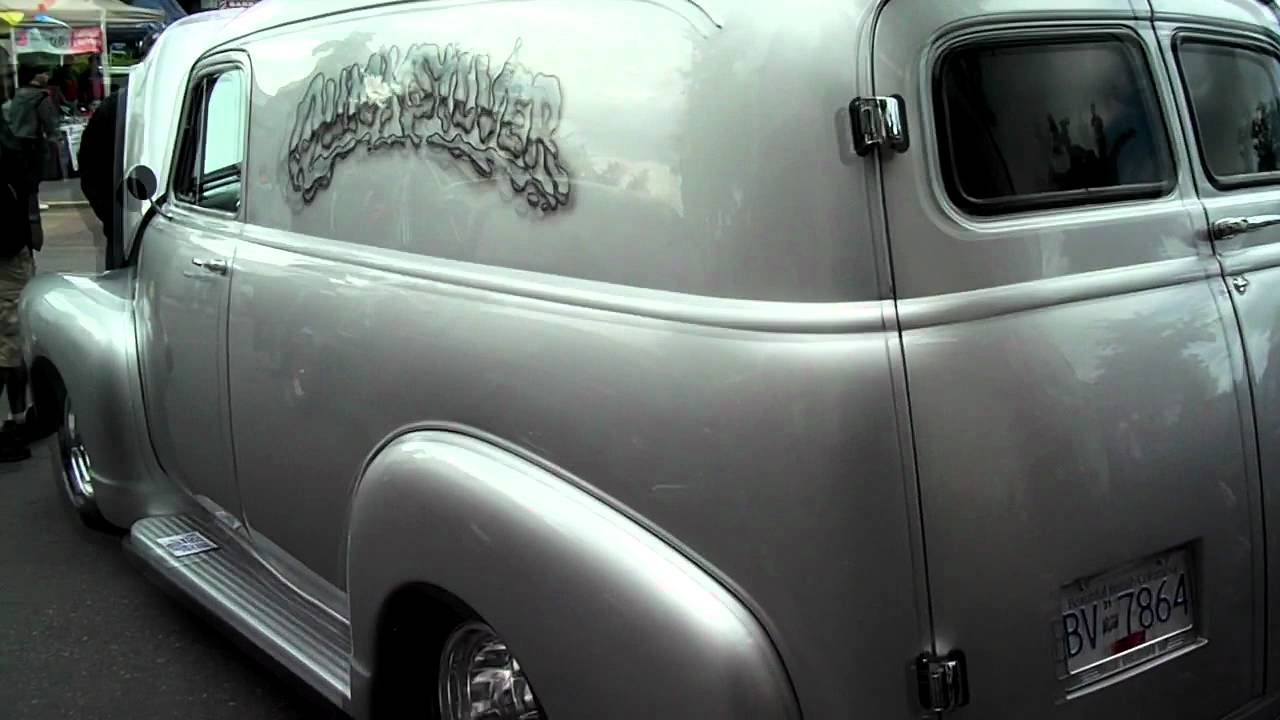1955 Chevy Truck >> 1950 Chevy Panel Wagon - YouTube