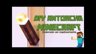 Como hacer una antorcha Minecraft con un carton de leche. Reto Llegaexperimentos - Victor Vic