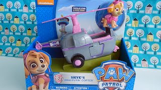 Skye High Flyin Copter Paw Patrol Toy Unboxing